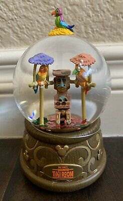 Disney Parks Enchanted Tiki Room Resin Musical Snow Globe New With Tags
