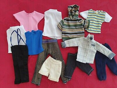 TWELVE ITEMS OF CLOTHES FOR KEN, GOOD VARIETY, SAME DAY 1st CLASS POST