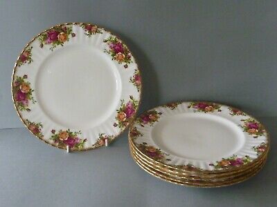 """Royal Albert Old Country Roses - 6 Dinner Plates - 10.5"""" or 26.5 cm dia - 2nds"""