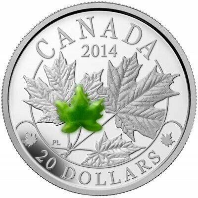 Canada  Majestic Maple Leaves With Jade Silver 20$ 2014