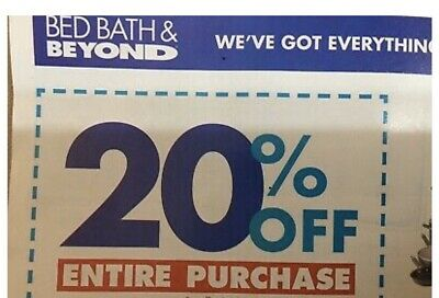 BED BATH & BEYOND: 20% Off Entire Purchase - Coupon Discount Code