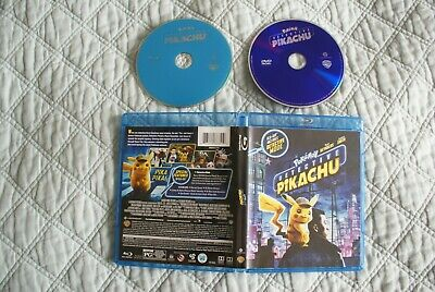 DETECTIVE PIKACHU POKEMON BLU RAY DVD ryan reynolds NO DIGITAL CODE
