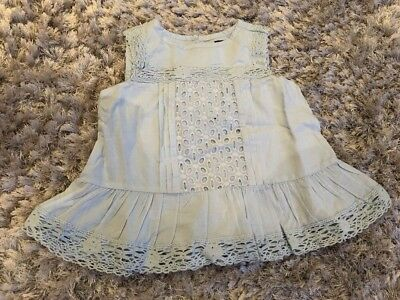 Gap Blue Broderie Anglaise Top Age 2 Bnwt