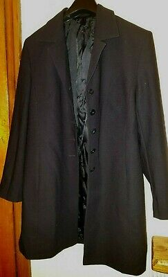 Marks & Spencer Classic Dark Navy Pure New Wool Fully Lined Coat 14