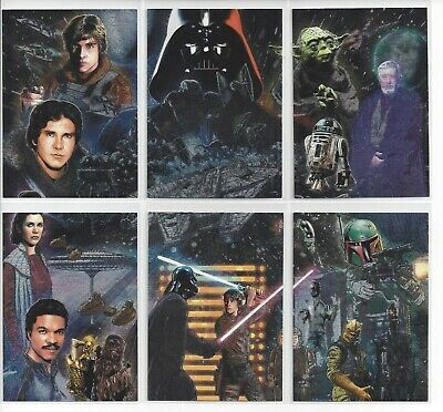 Etched Foil Insert Set 2010 Topps Star Wars Galaxy 5 Complete Base Set 1-120