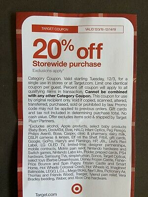 Target 20% Off Storewide Coupon - Valid 12/3/19-12/14/19 Online and In Store