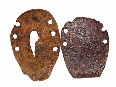 Lot Of Two Very Rare Roman Period Donkey Or Mule Horse Shoes, Well Preserved+++