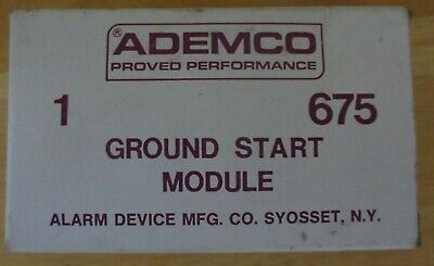 Ademco 675 Ground Start Module, New Old Stock