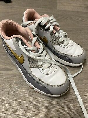 Nike Air Max Girls Grey / Pink Trainers - Size: 1 - Hardly Worn