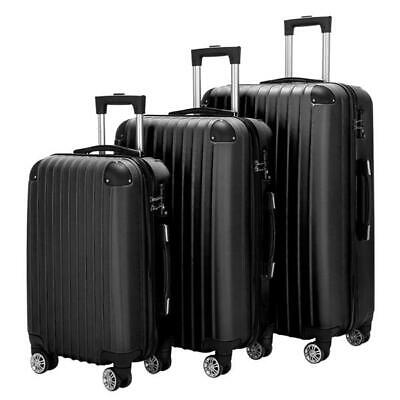 "20""24""28"" Inch Travel luggage Bag Set of 3 Trolley Hard Shell Suitcase W/ Lock"
