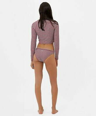 Sweaty Betty Retro Reversible Rash Guard + Bikini Bottoms Size S 2066-B13