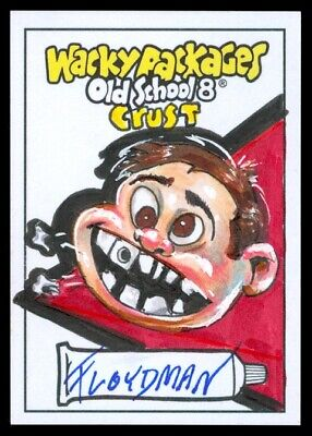 2019 Topps Wacky Packages Old School 8 Crust Floydman Sumner Color Sketch 1/1