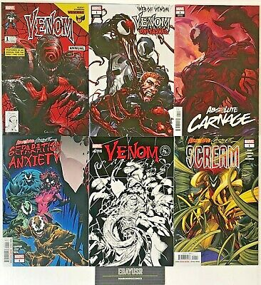 Lot 6 Venom Comics Unleashed Annual Absolute Carnage Separation Anxiety VARIANTS