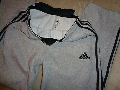NWT ADIDAS Marled Heather Gray Men/'s Ankle-Zipper Sweatpants pants joggers run