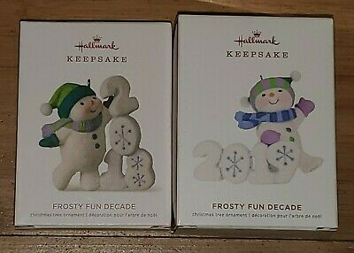 New Hallmark Keepsake Ornament 2018 & 2019 Frosty Fun Decade