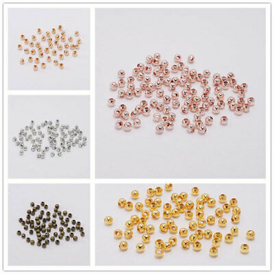 Spacer Beads For Jewelry Making 2-10mm Round Metal Wholesale Ball End Seed Beads