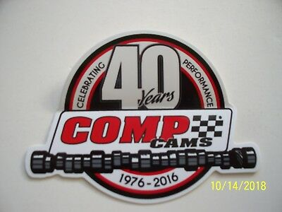 "ORIGINAL   DECALS  ""   Comp - Cams   40  Years  ""   2.5 "" x  3.50 """