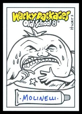 2019 Topps Wacky Packages Old School 8 Hurts Tomato Paste Molinelli Sketch 1/1