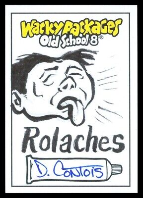 2019 Topps Wacky Packages Old School 8 Rolaches Daniel Contois Sketch 1/1