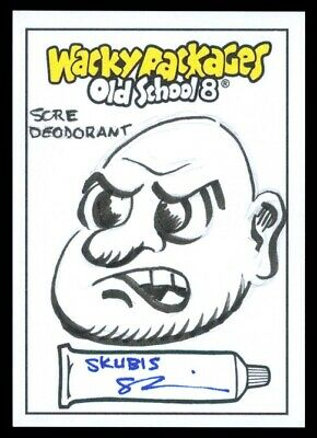 2019 Topps Wacky Packages Old School 8 Sore Deodorant Skubis Sketch 1/1