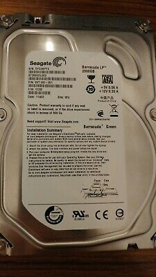 "2TB Seagate Barracuda Green Internal 3.5"" SATA 2 TB Hard Drive HDD ST2000DL003"
