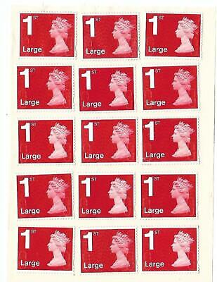 50 x 1st First Class LARGE UNFRANKED ALL POST OFFICE RED STAMPS EASY PEEL