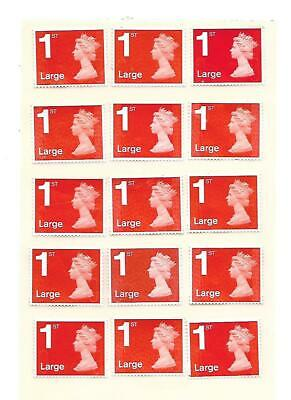 50 x Large 1st First Class Stamps ALL RED Unfranked Off Paper Easy Peel #