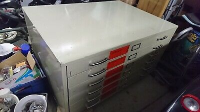 Grey A1 PLAN 6 DRAWER METAL ARCHITECT CABINET