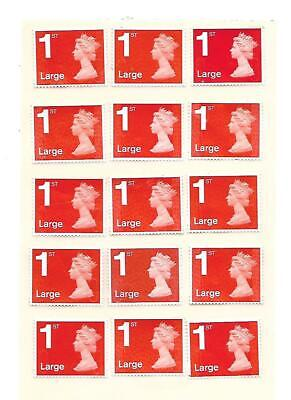 50 x Large 1st First Class Stamps ALL RED Unfranked Off Paper Easy Peel