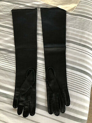Marni ladies long leather gloves black size 8