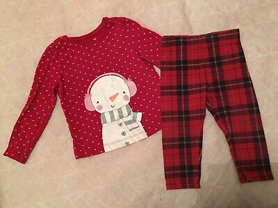 Next Baby Girls Christmas Outfit Age 12-18 Months VGV tartan Cute