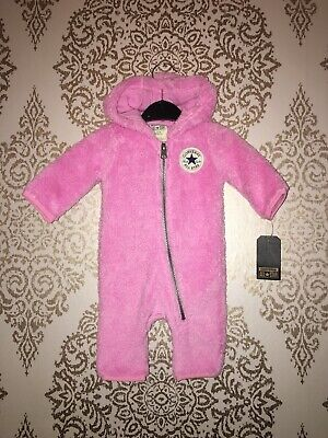 Converse Baby Girls All In One Snowsuit Outfit Age 0-3 BNWT trendy Cute Next P&p