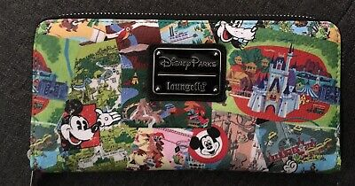 Disney Parks Loungefly Collage  Wallet New With Tags