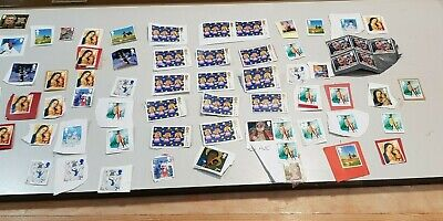 130+ UNFRANKED  1st & 2nd class XMAS STAMPS with FAULTS  FV £85+