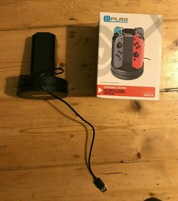 For Nintendo Switch Joy-Con Charge Dock Controller Charging LED Stand Charger UK