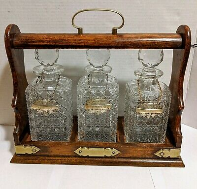 Antique Glass Decanter  MS . Rare . the tags  are marked EPNS made in England