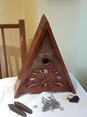 Antique vintage cuckoo clock To Do Up Spares Or Repair Moax Maax Majax Ussr