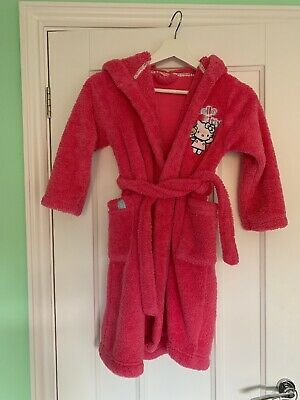 Girls M&S Hello Kitty Dressing Gown Age 7-8 Years