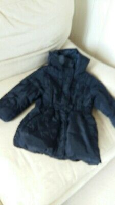 Marks & Spencer Girls Navy Blue Coat Age 2/3 Years