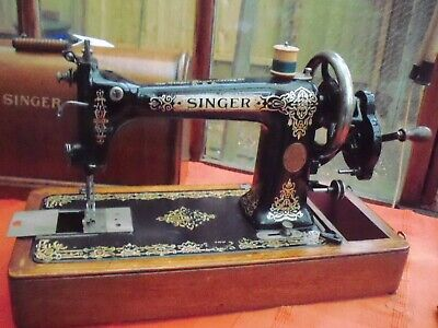 Singer 9W Rotary Hook m/c 1912 serviced, tested & in good working order
