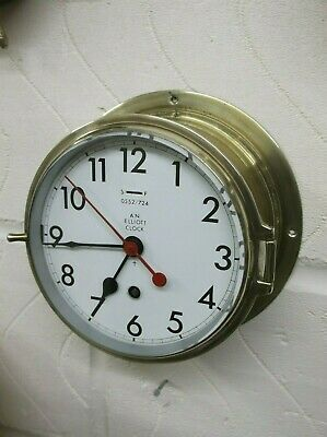 "ORIGINAL "" ELLIOT "" of LONDON BRASS 8 DAY SHIPS CLOCK IN PERFECT WORKING ORDER."
