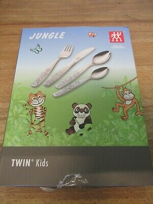 "Kinderbesteck von Zwilling Twin Kids ""Jungle"" 4 teilig NEU"