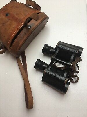 Vintage Carl Zeiss X8 Binoculars made in 1897 With leather  Bausch & Lomb Case