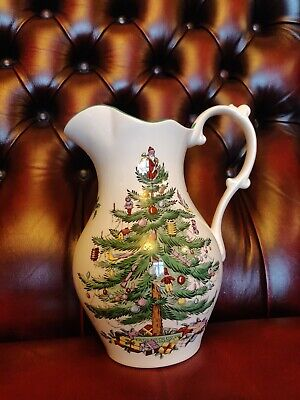 "Spode Christmas Tree Large Jug / Pitcher - Made in England  - 9"" Tall"