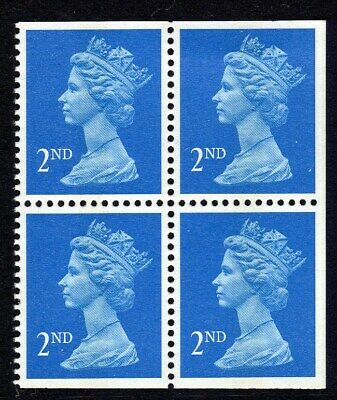 100 Unfranked 2nd Class Blue mix Stamps GB Kiloware CC on paper FV £61:00
