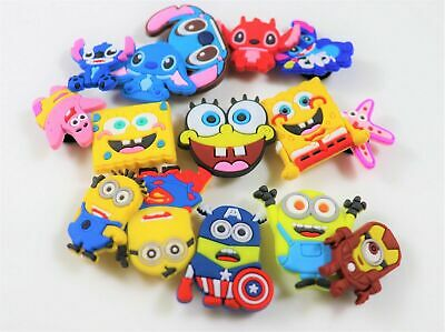 15 pcs Cartoon Croc Charms for Croc & Bracelet & shoes Wristband Kids Party