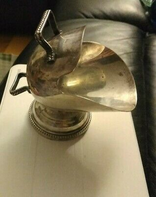 VINTAGE 1950's SILVER PLATED SUGAR COAL SCUTTLE