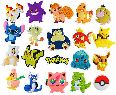 20 pcs Pokemon Croc Charms for Croc & Bracelet & shoes Wristband Kids Party