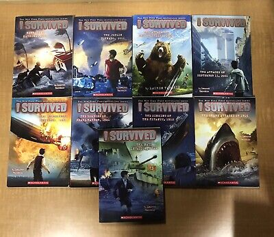 Lot of9 I SURVIVED Series Set of Chapter Books Scholastic (Paperbacks)