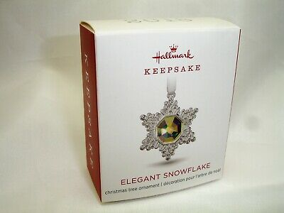 Hallmark 2018 ELEGANT SNOWFLAKE Miniature Keepsake Ornament NEW MIB